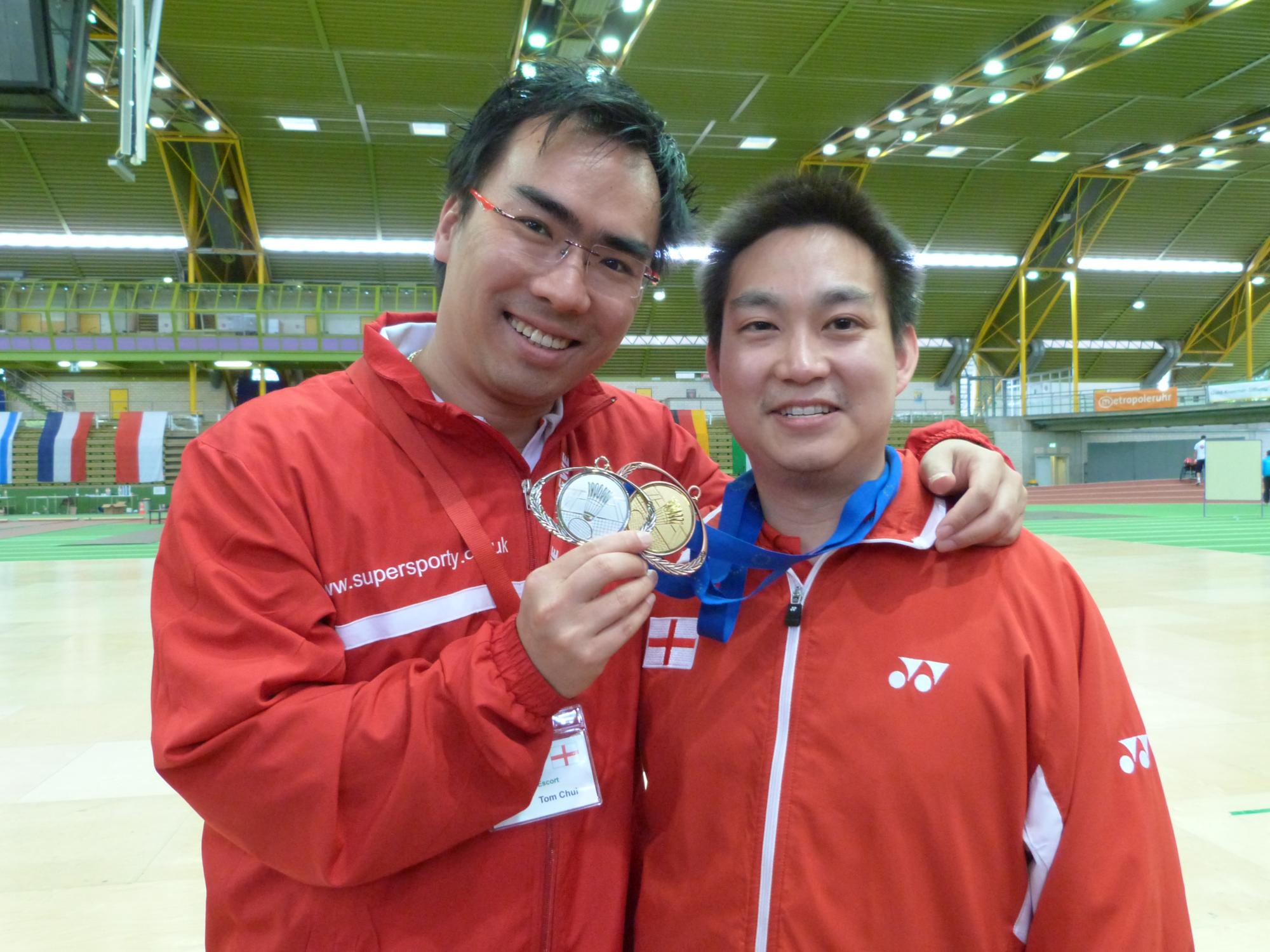 Coach Tom Chui and England Player Daniel Lee - Europeans 2012
